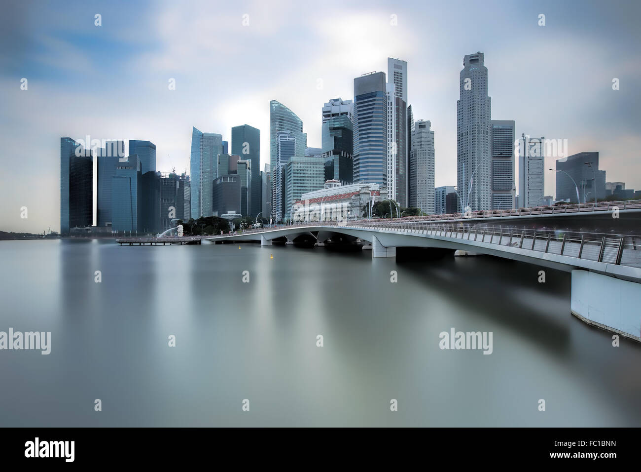 Jubilee Bridge Singapore - Stock Image