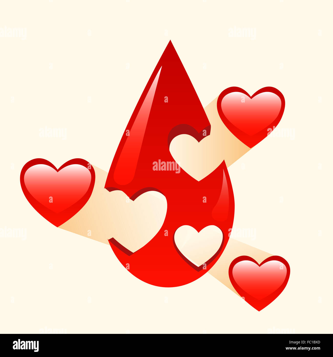 Donation of blood and organs medicine - Stock Image