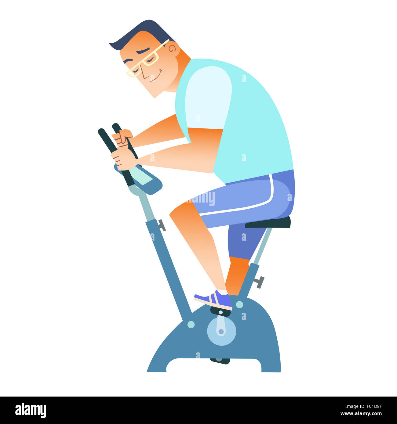 sportsman exercise bike - Stock Image