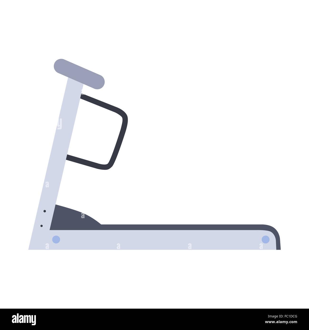 Stationary treadmill - Stock Image