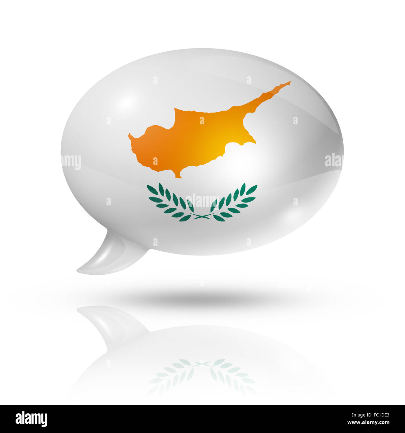Cyprus flag speech bubble - Stock Image