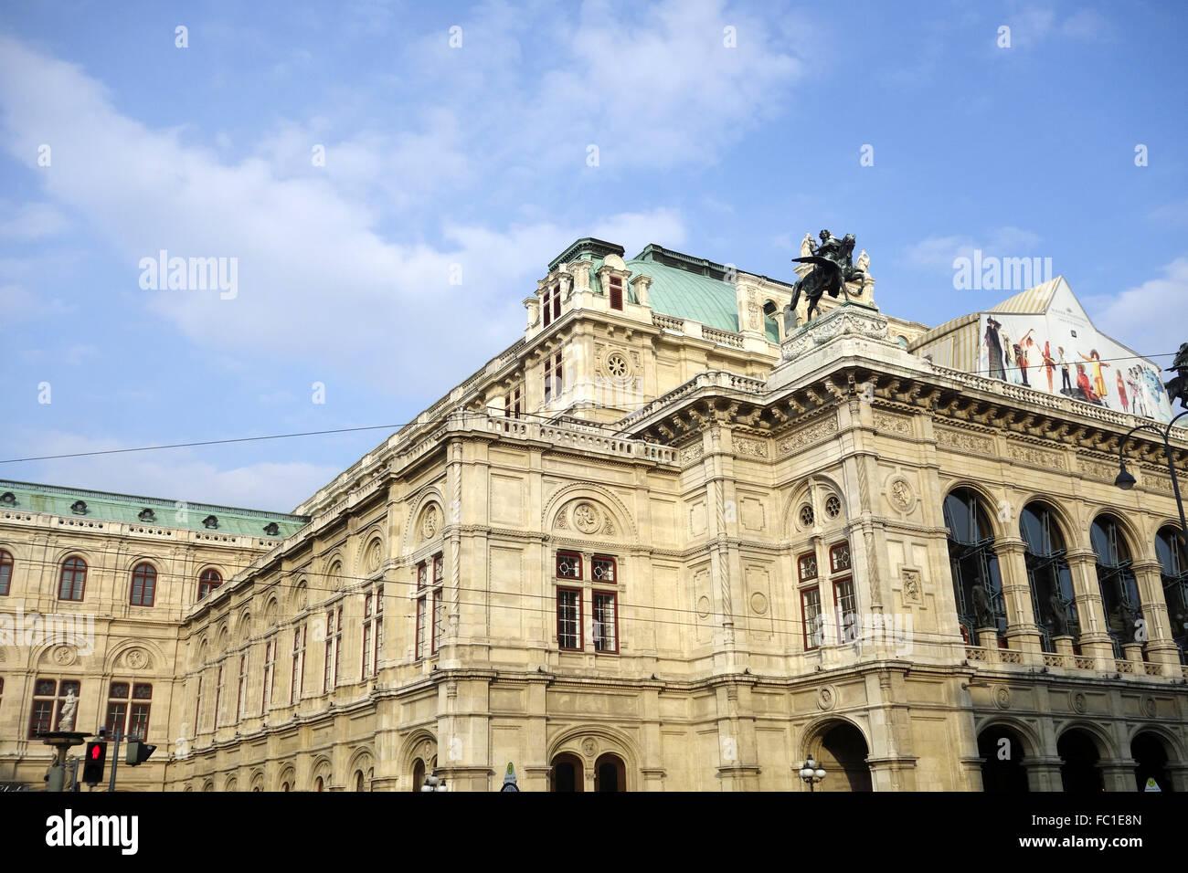 vienna state opera - Stock Image