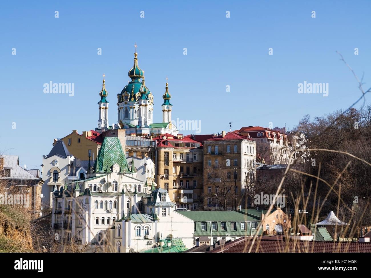 Vozdvizhenka elite district in Kiev, Ukraine - Stock Image