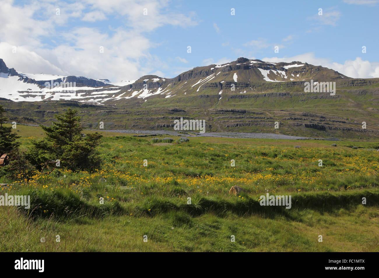 Seydisfjordur Eastern Iceland - Stock Image