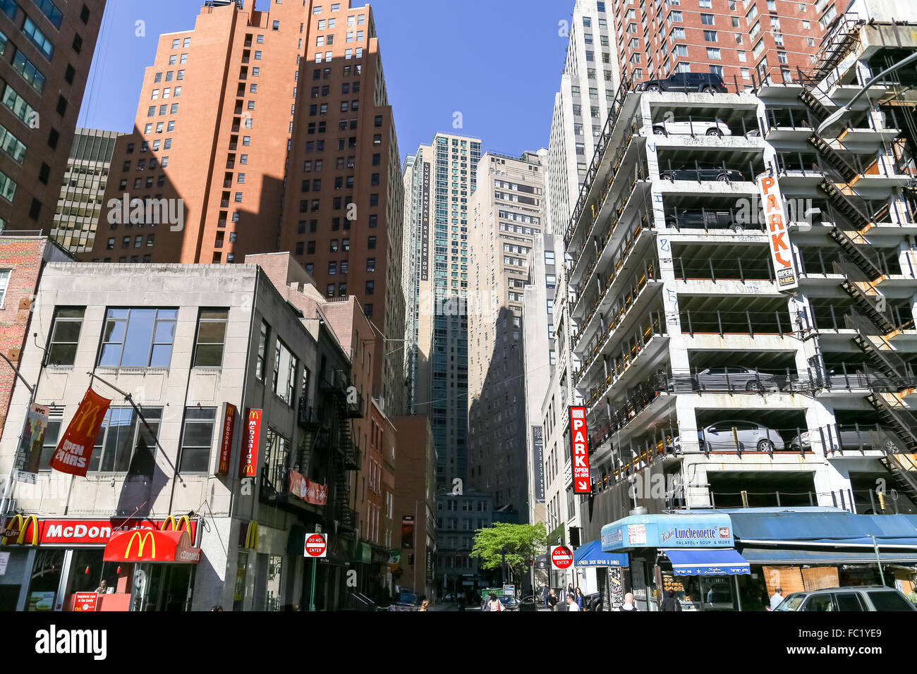 Neighbourhood in NY - Stock Image