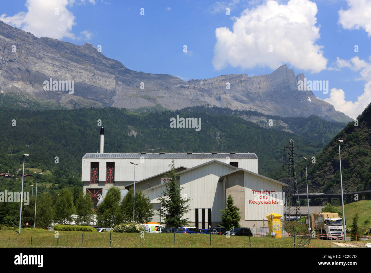 SITOM. Intercommunal Union of Household Waste Processing of Mont Blanc Valleys. - Stock Image