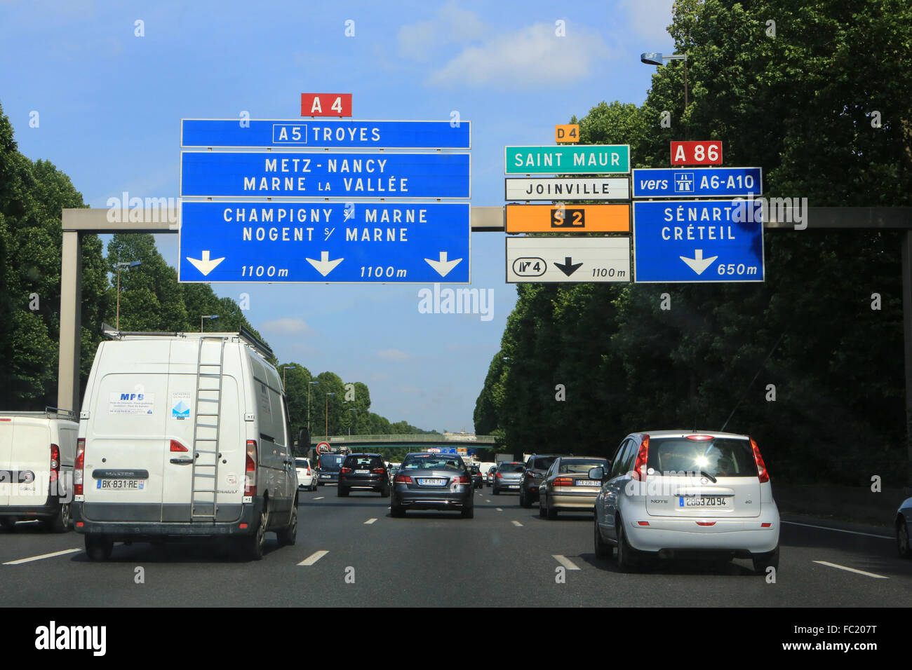A4 - A86. Highways. - Stock Image