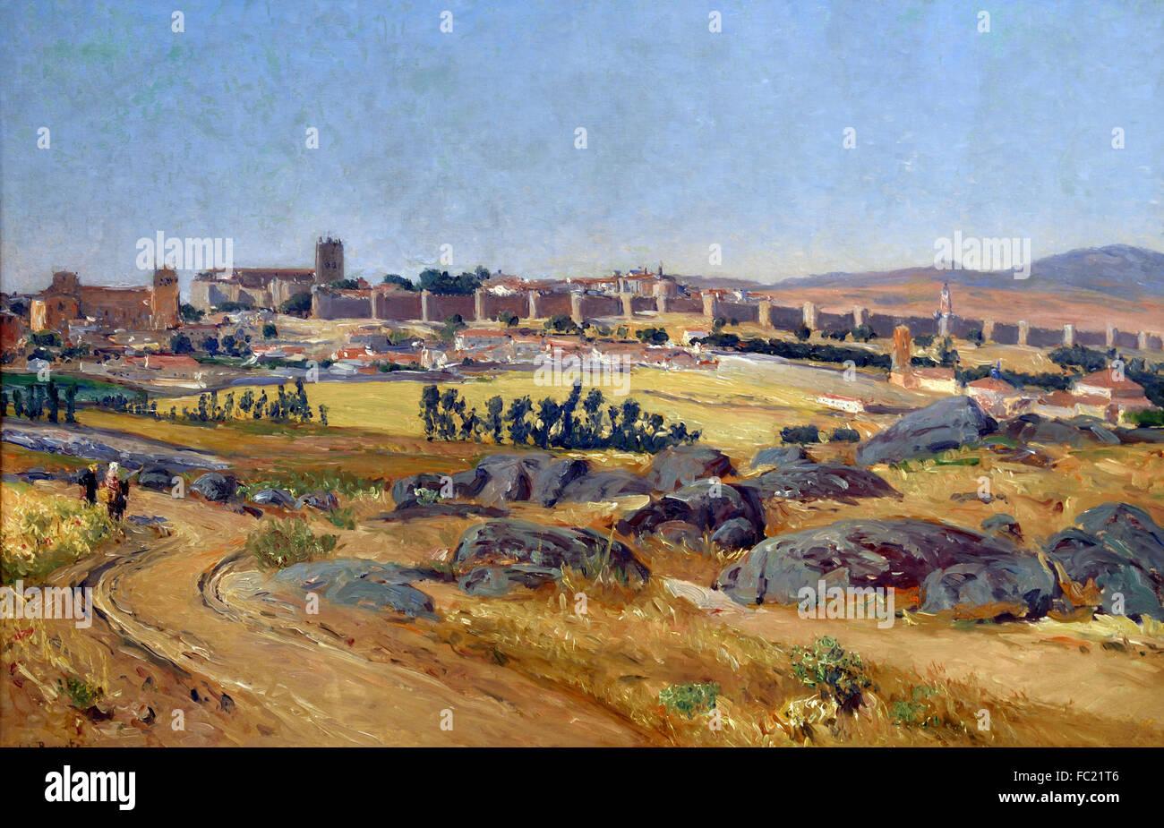 Ávila 1909 Aureliano Beruete y Moret 1845 - 1912 Spanish Spain - Stock Image