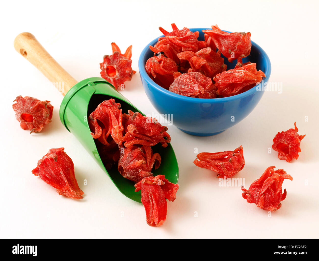 Candied Hibiscus Flowers Stock Photo 93474362 Alamy
