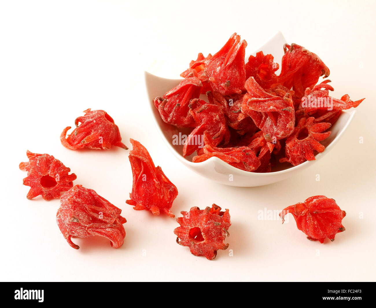 Candied Hibiscus Flowers Stock Photo 93475175 Alamy