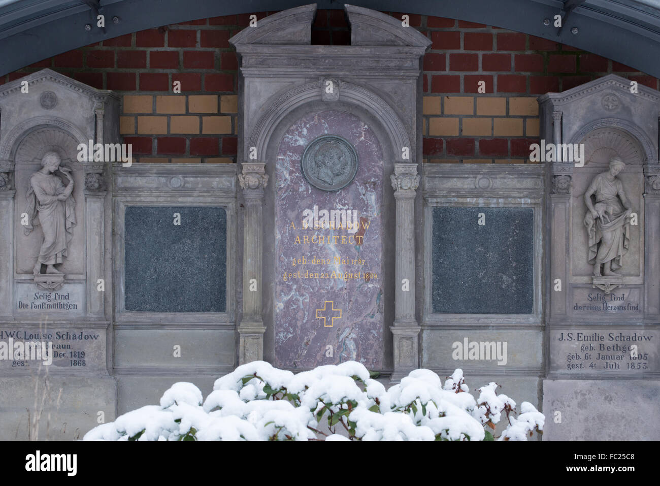 Dorotheenstadt cemetery Berlin,grave of Albert Schadow, Germany - Stock Image