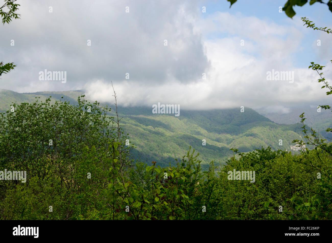 Dark skies. Georgia. - Stock Image