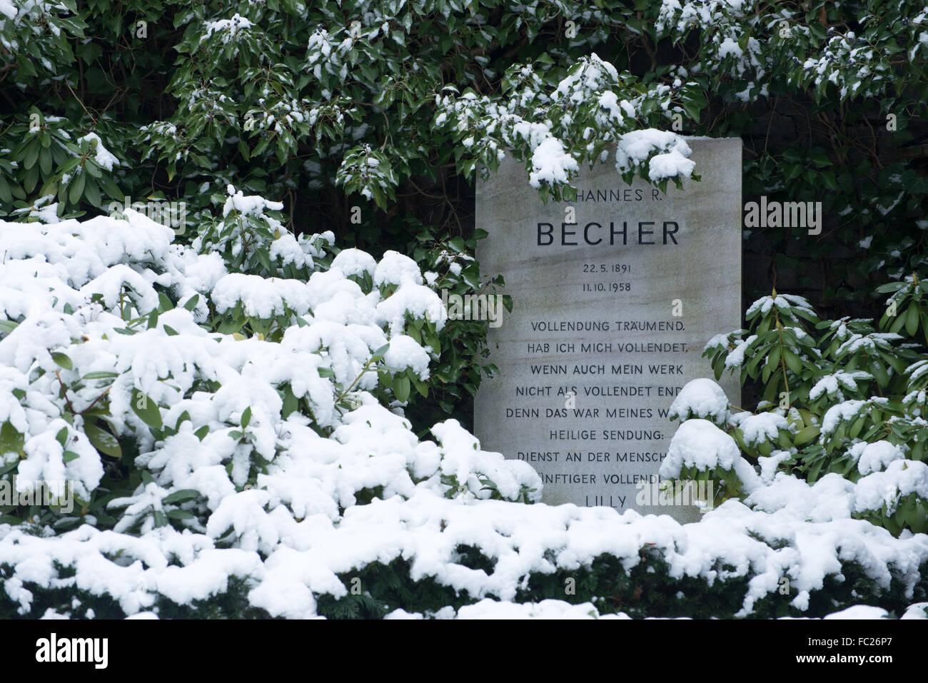 Dorotheenstadt cemetery Berlin, grave of Johannes R. Becher, Germany - Stock Image