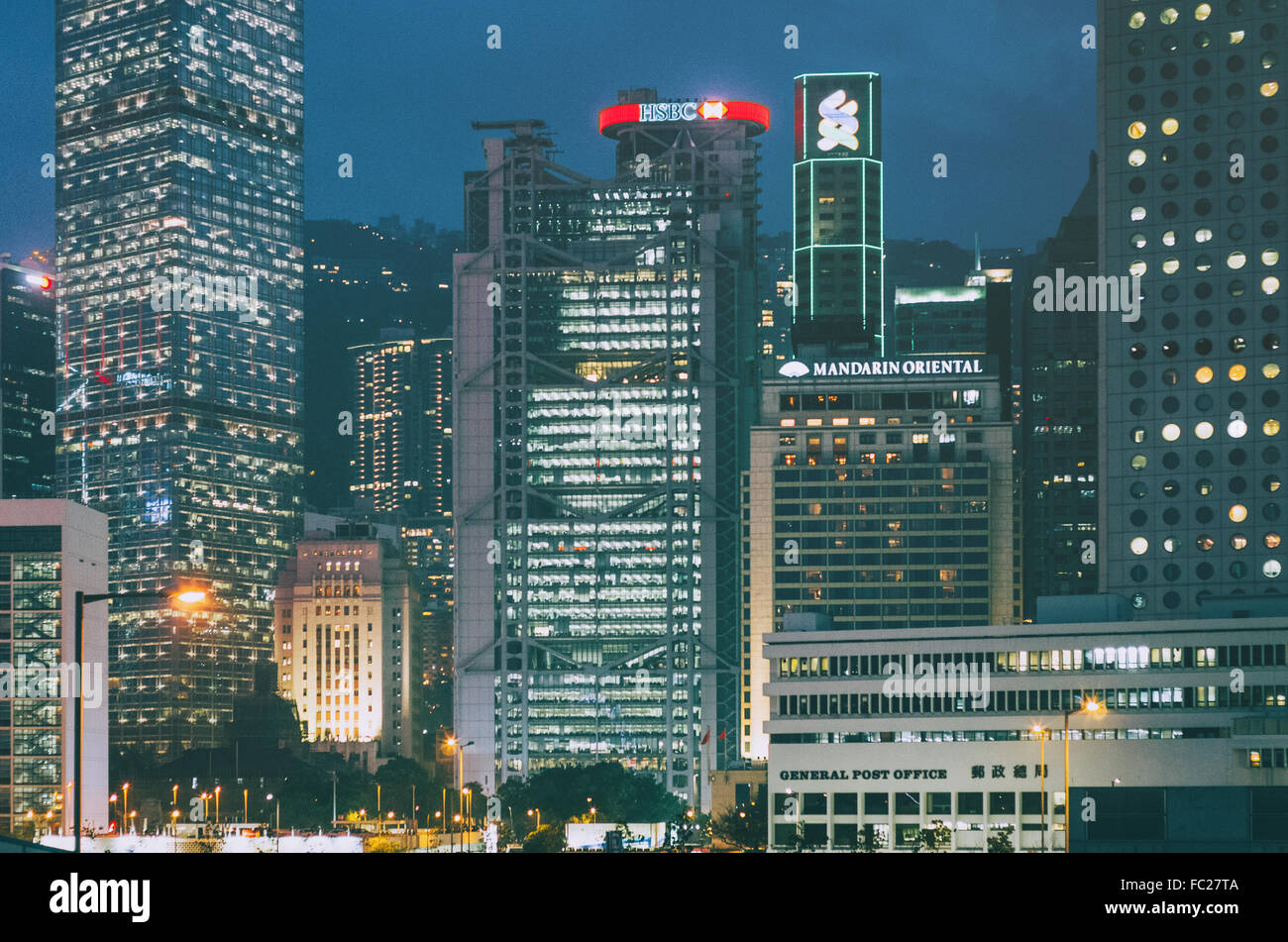 skyscrapers in central hong kong Stock Photo