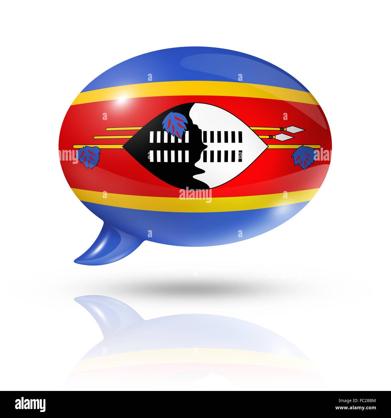 Swaziland flag speech bubble Stock Photo