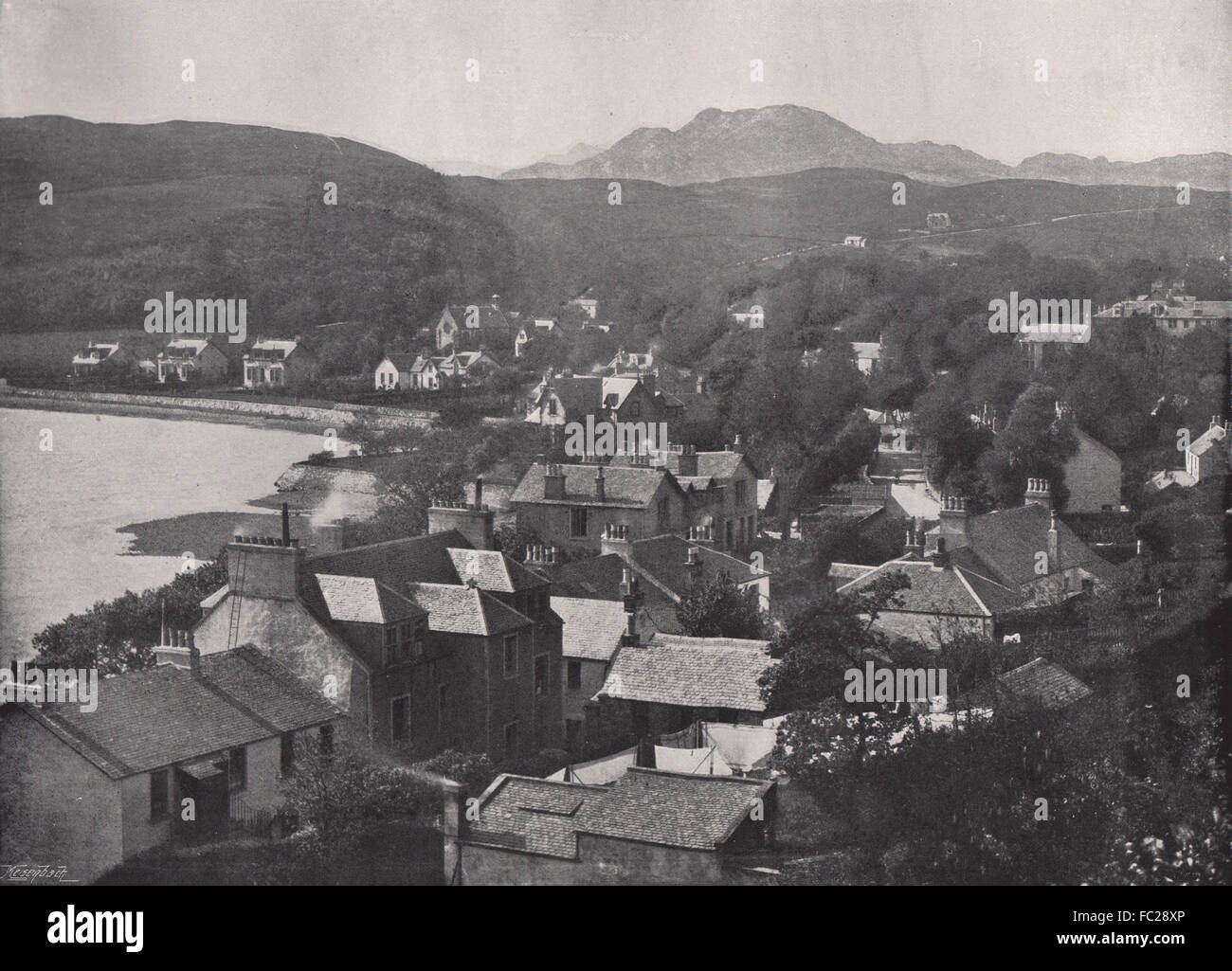 GARELOCH-HEAD. From the hills. Scotland, antique print 1895 - Stock Image