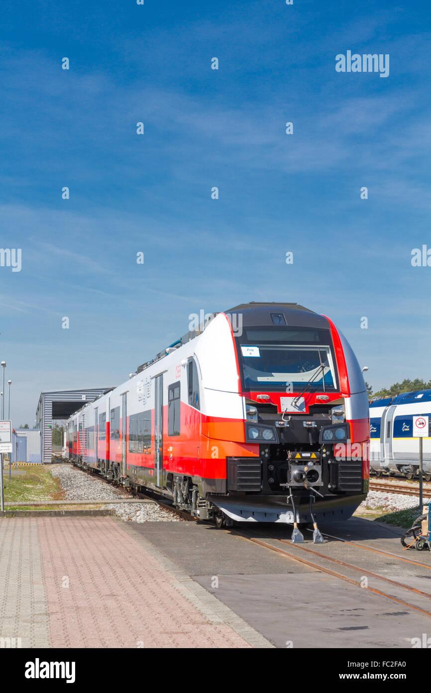 SIEMENS Desiro-Train for Austria Stock Photo