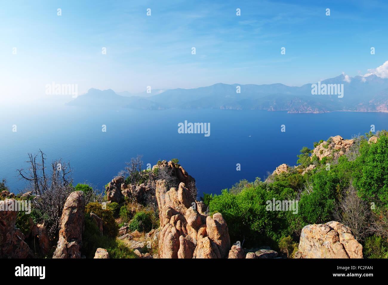 Calanches de Piana - Corsica - Stock Image