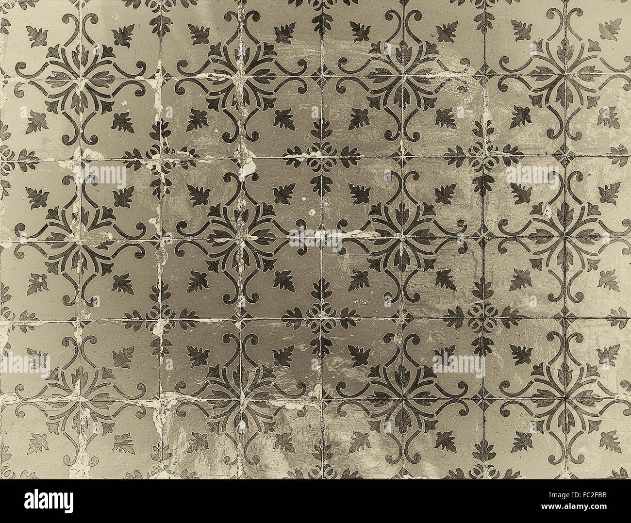 Vintage azulejos, traditional Portuguese tiles - Stock Image