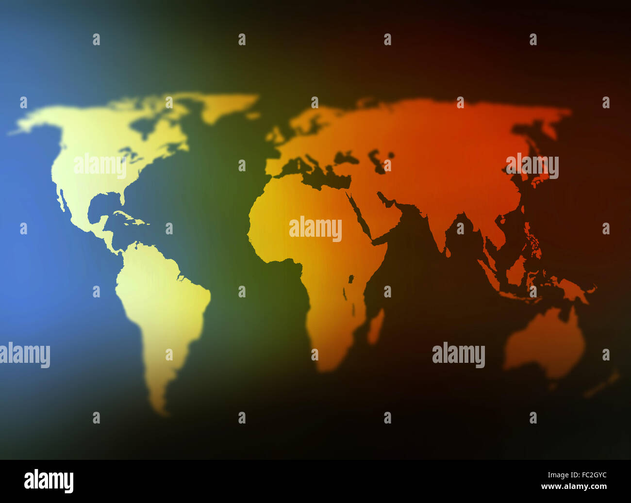 Day and night world map selective focus Stock Photo: 93484928 - Alamy