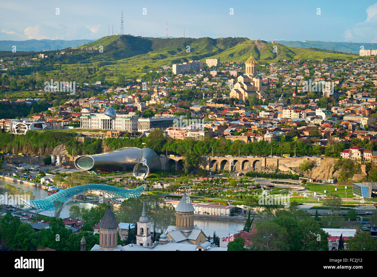Tbilisi panorama Stock Photo
