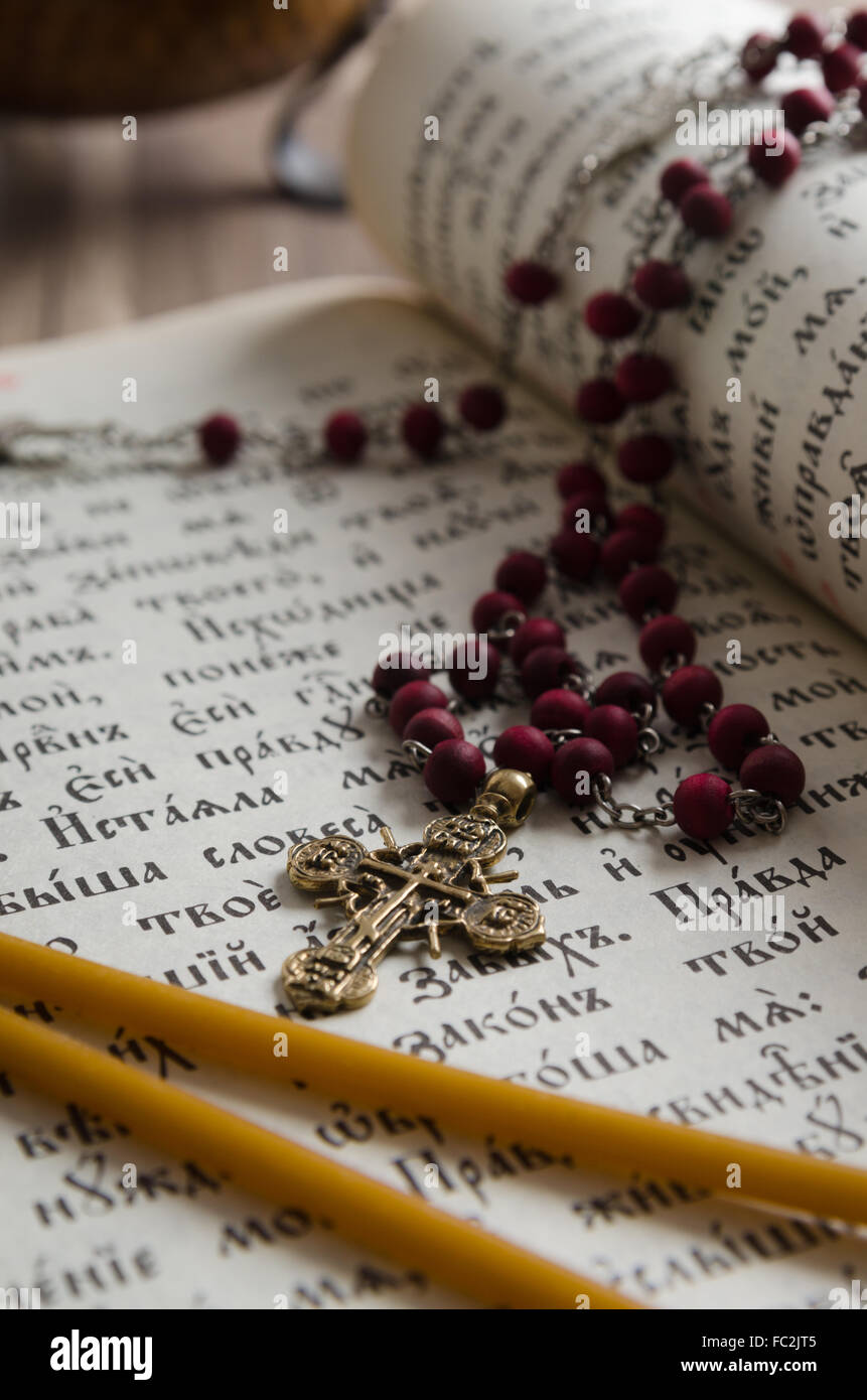Psalter in the Old Church Slavonic language - Stock Image
