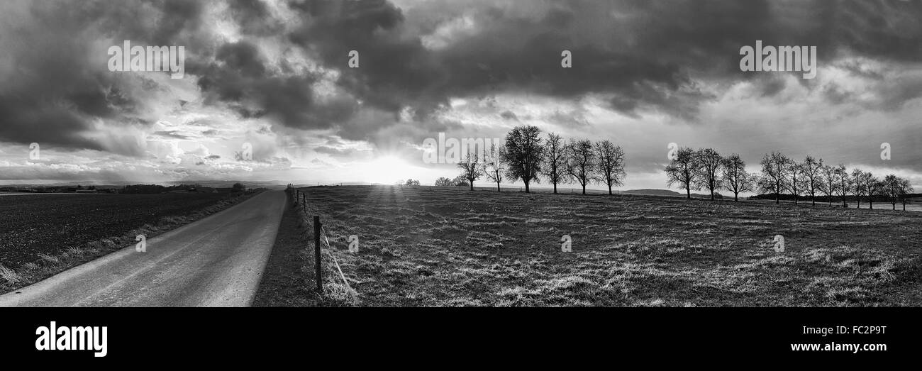 Weather atmosphere in the Evening Sun - Stock Image