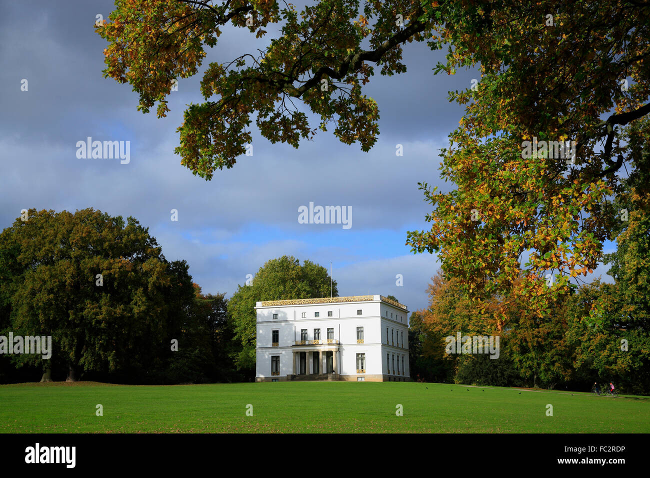 Jenisch Haus (house) in Jenischpark, Hamburg, Germany, Europe - Stock Image