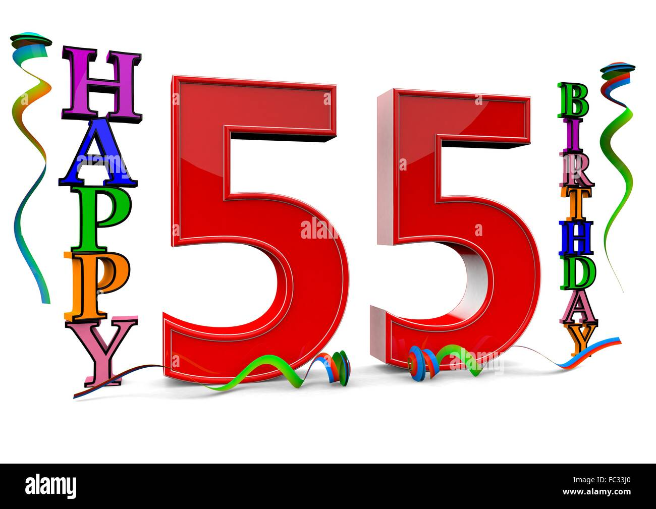 Happy 55 Birthday Stock Photo 93496424