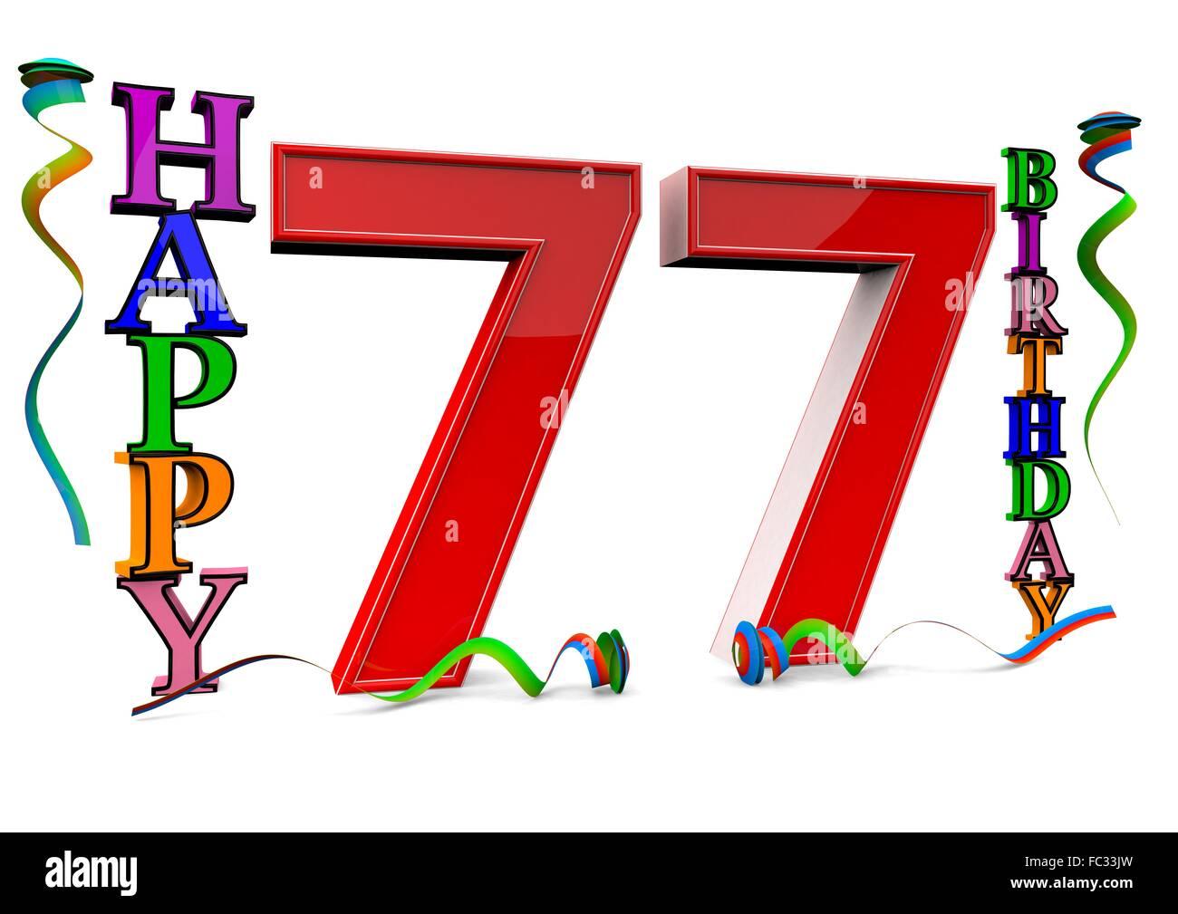 Happy Birthday 77 Stock Photos Images