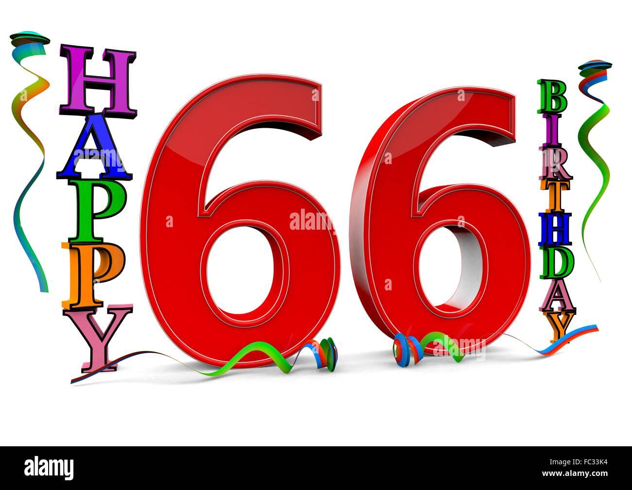 66 Jahre Geburtstag Stock Photos 66 Jahre Geburtstag Stock Images