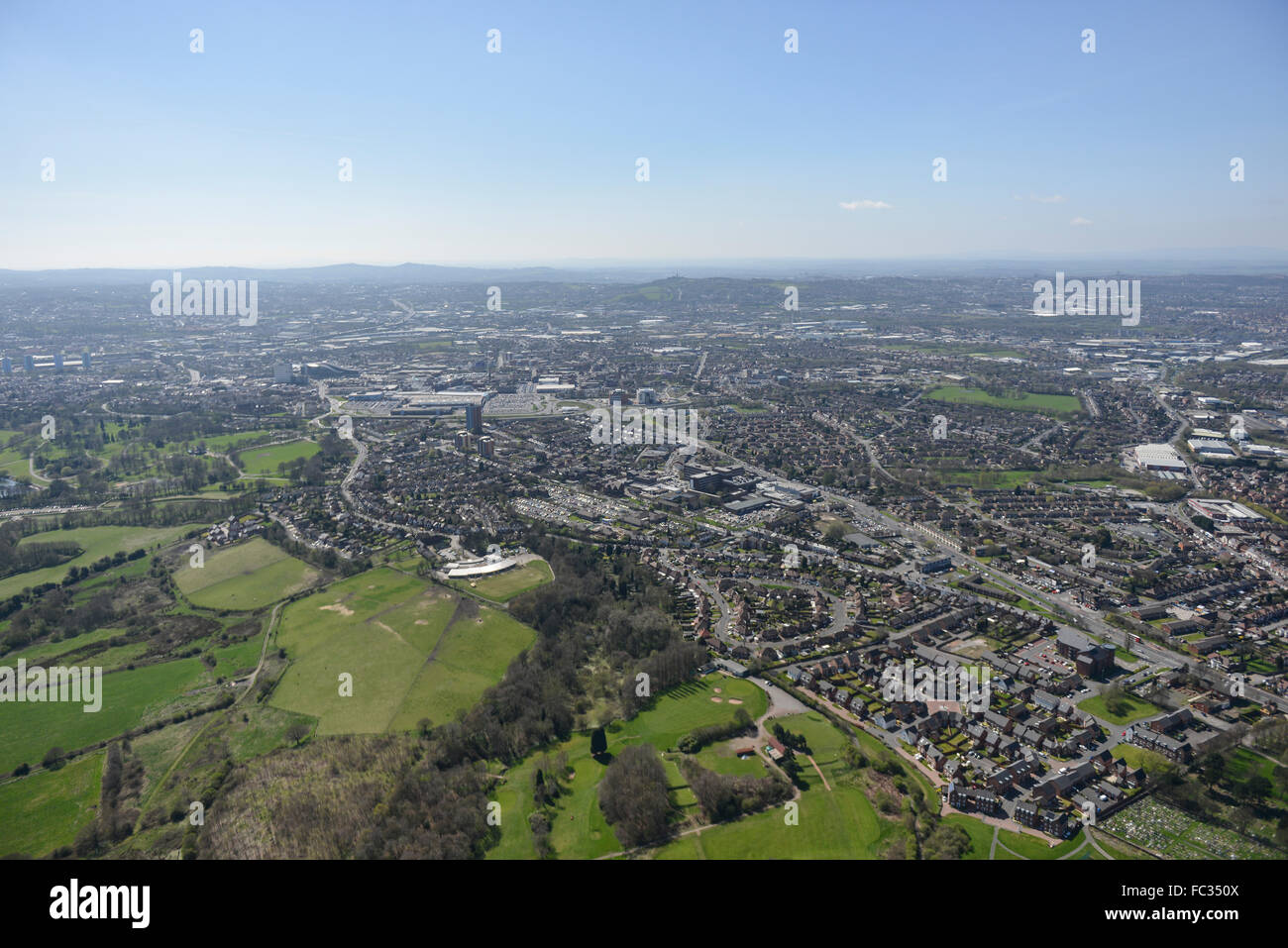General aerial views of the Black Country town of West Bromwich - Stock Image