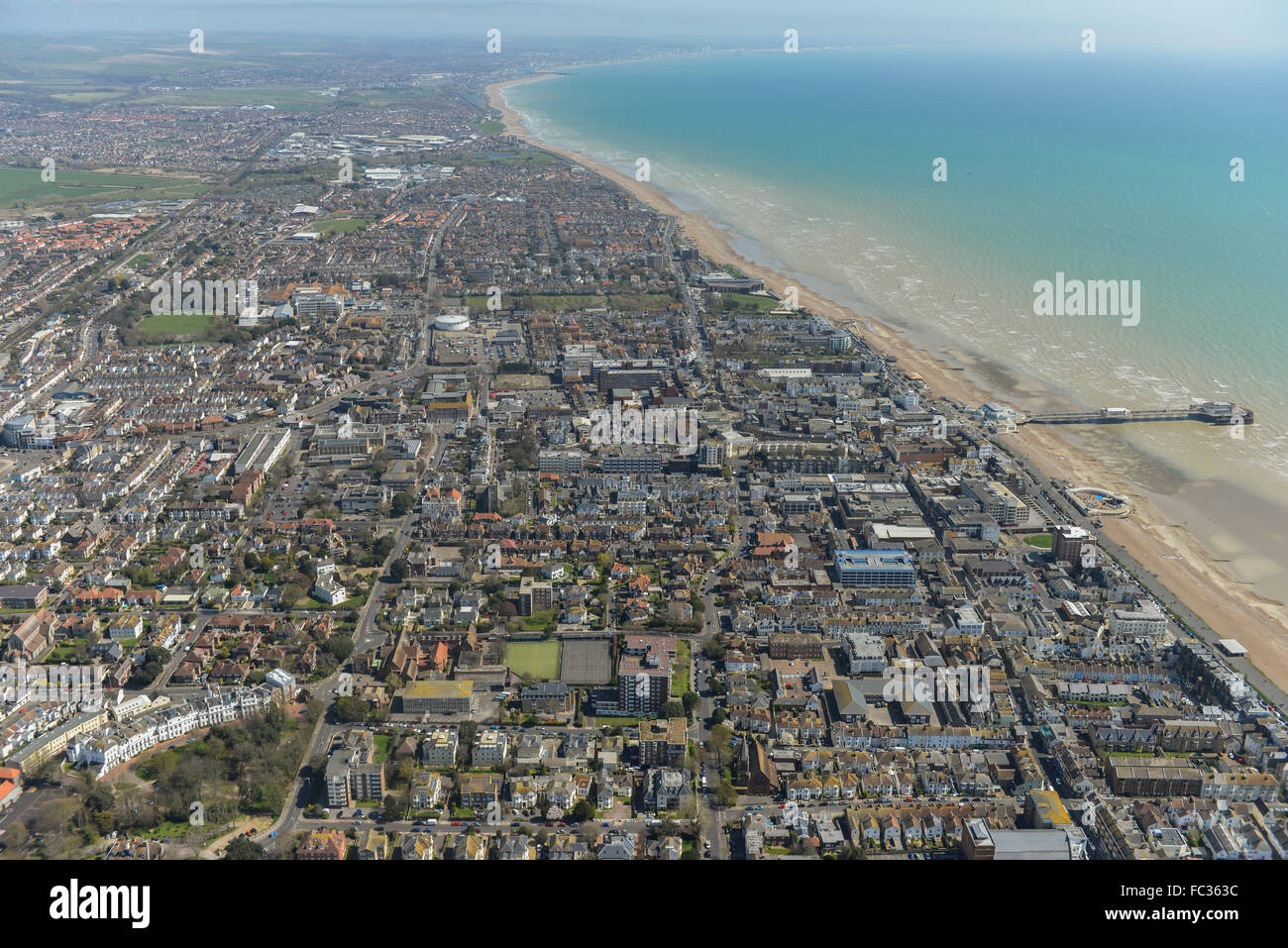 General views of the West Sussex town of Worthing - Stock Image