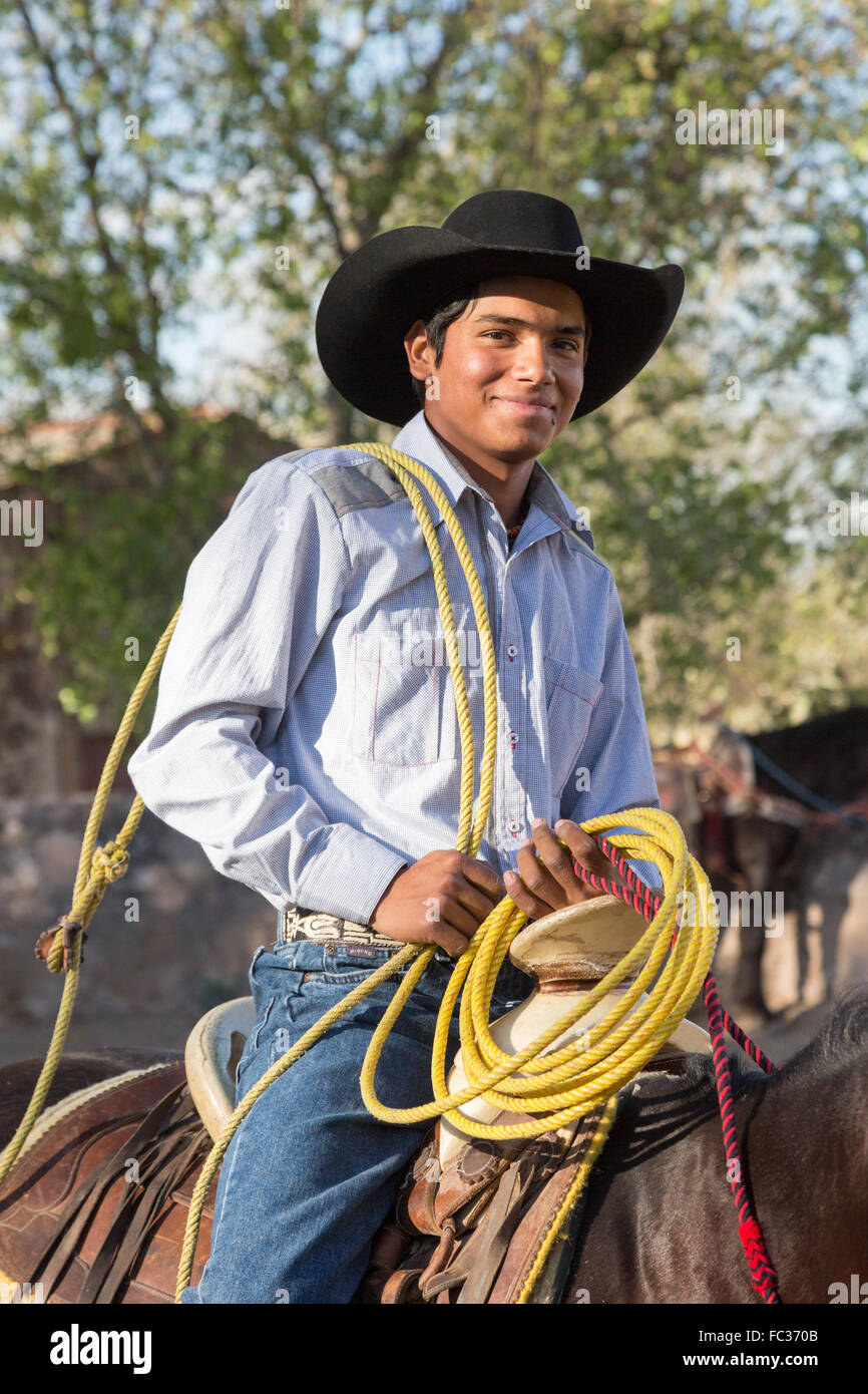 A Mexican charro or cowboy during practice for a Charreada competition at a  hacienda ranch in 70ba9e09feac