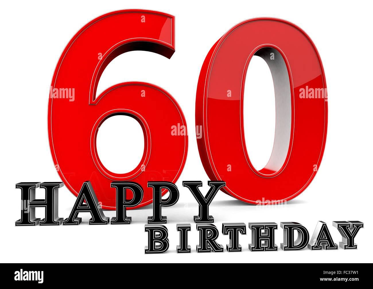 happy birthday zum 60 geburtstag stock photo 93499757. Black Bedroom Furniture Sets. Home Design Ideas