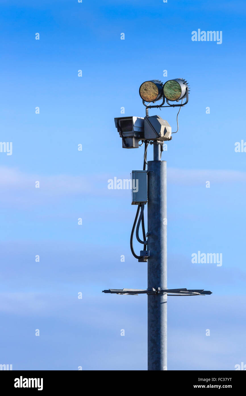 Closed-circuit television (CCTV) surveillance camera - Stock Image