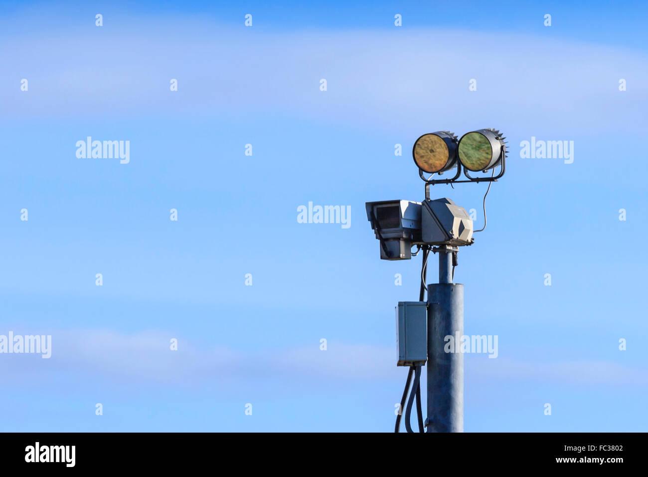 Closed-circuit television (CCTV) surveillance camera Stock Photo