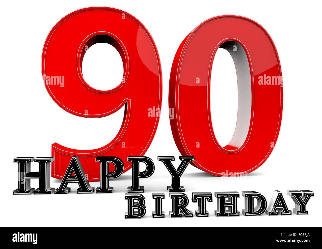 Happy birthday zum 90 geburtstag stock photo 93500354 alamy - Ideen zum 90 geburtstag ...