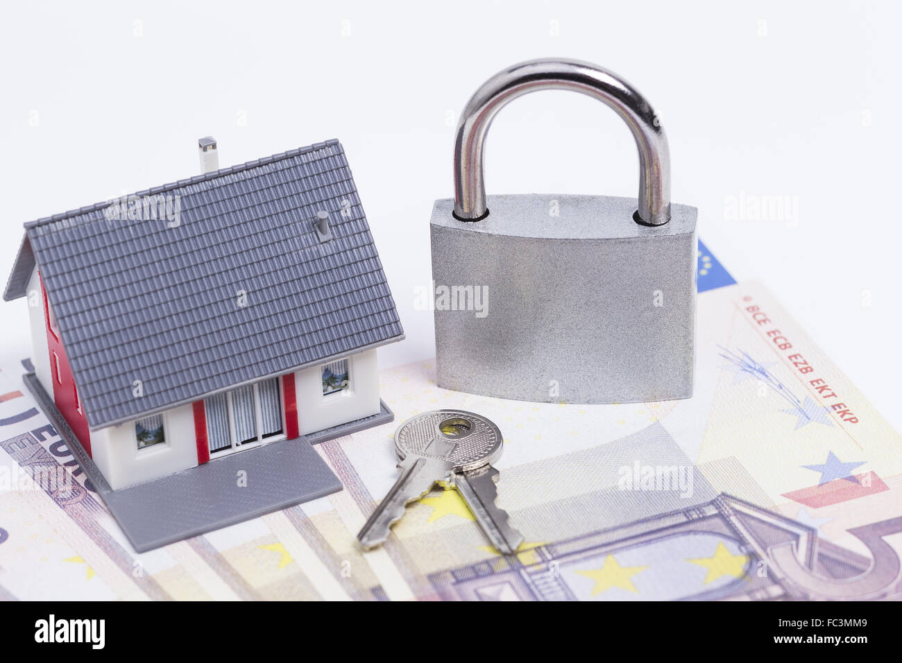 Secured house - Stock Image