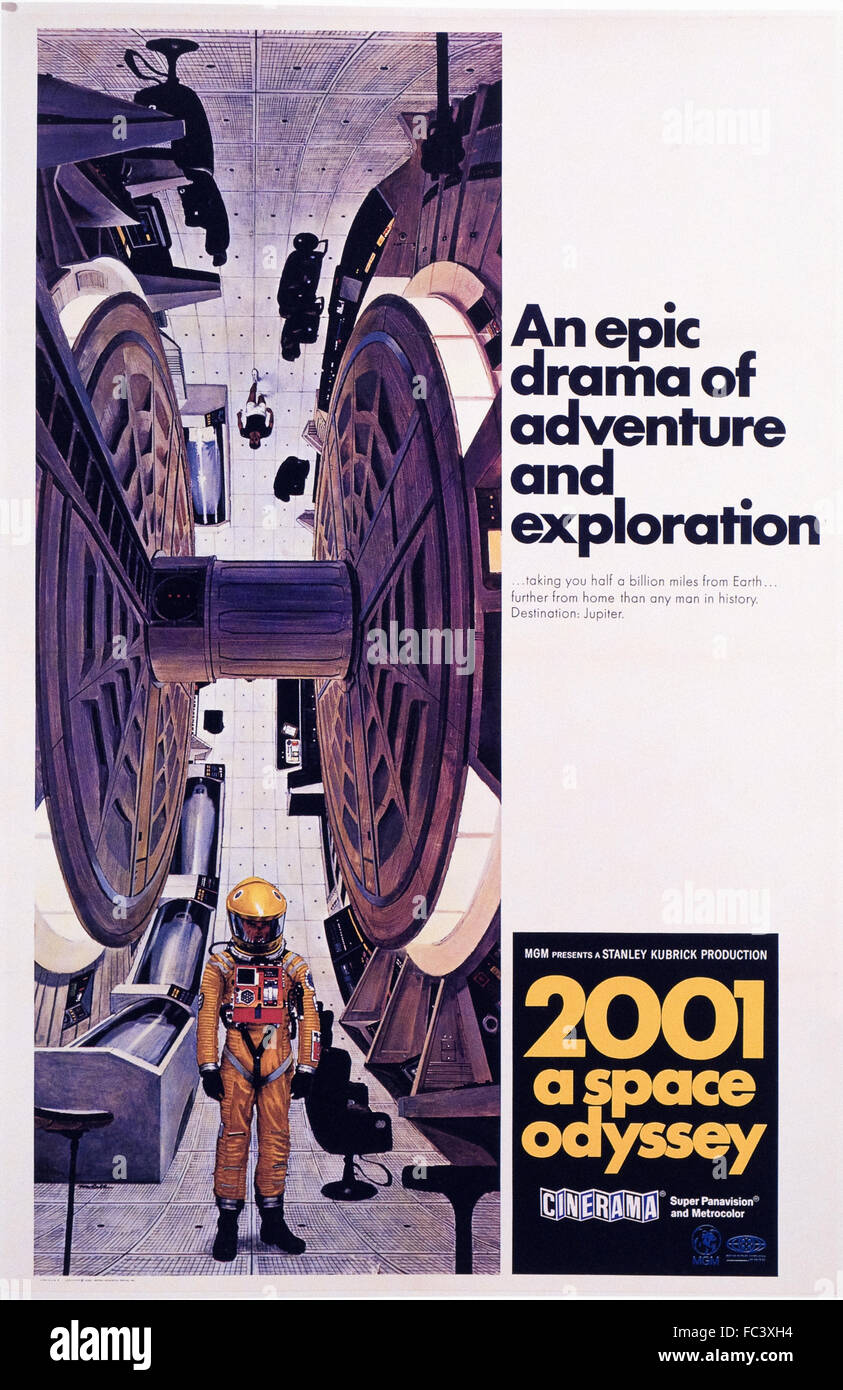 2001 a space odyssey - Movie Poster - 1968 - Stock Image