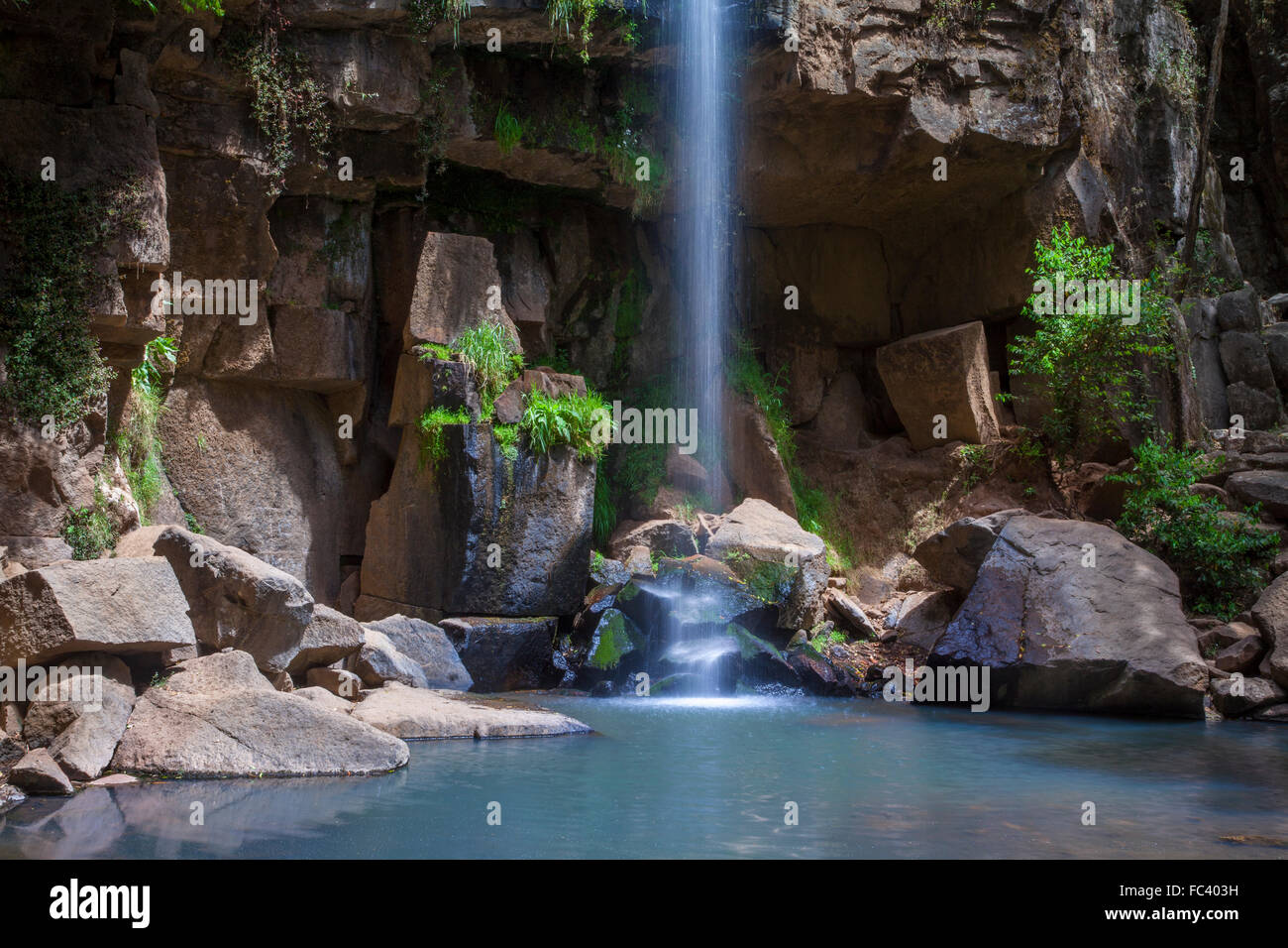 Detail of the El Salto Waterfall in Mazamitla, Jalisco, Mexico. - Stock Image
