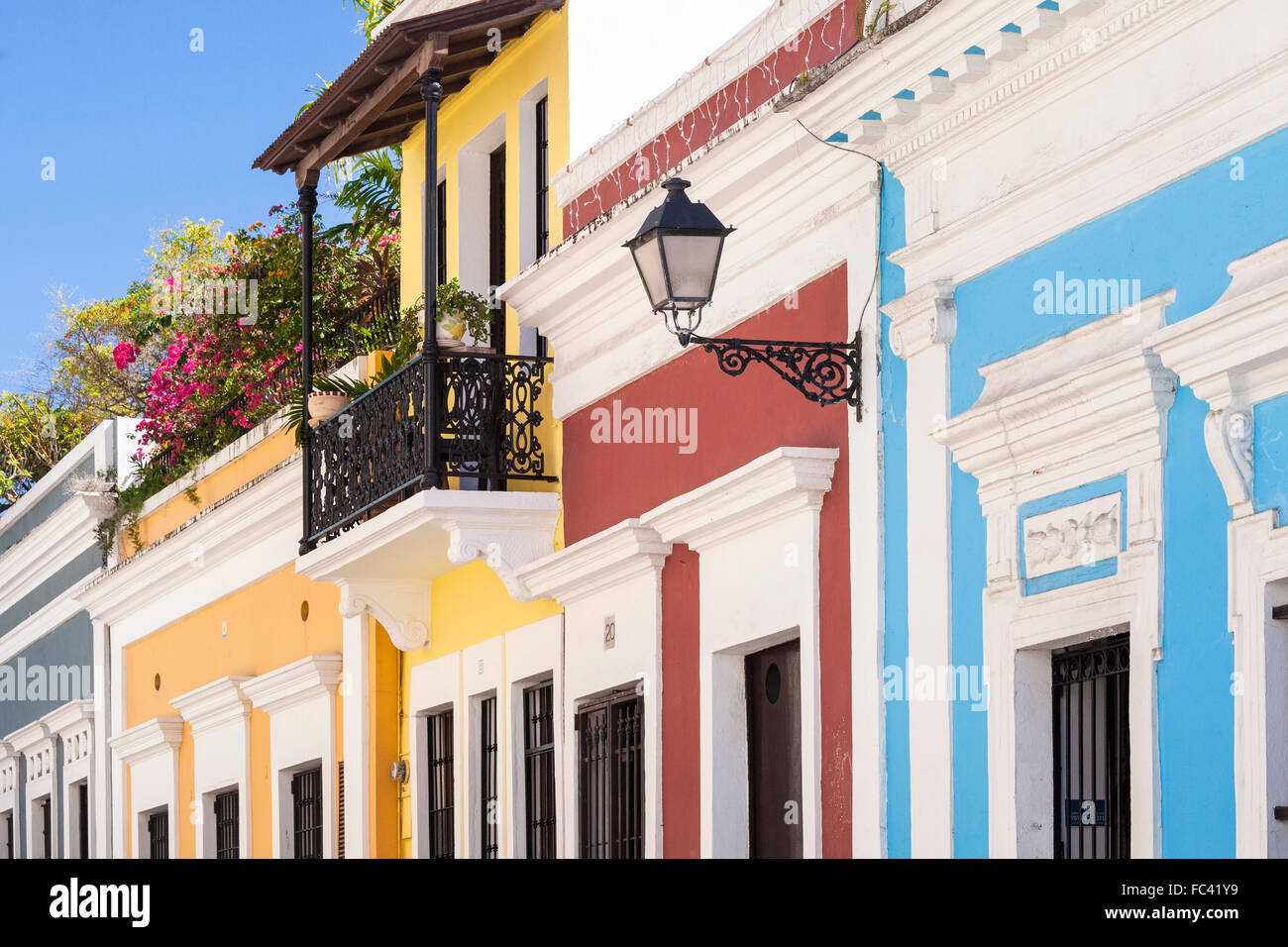 Peachy Colorful Houses Line A Street In Old San Juan Puerto Rico Download Free Architecture Designs Scobabritishbridgeorg