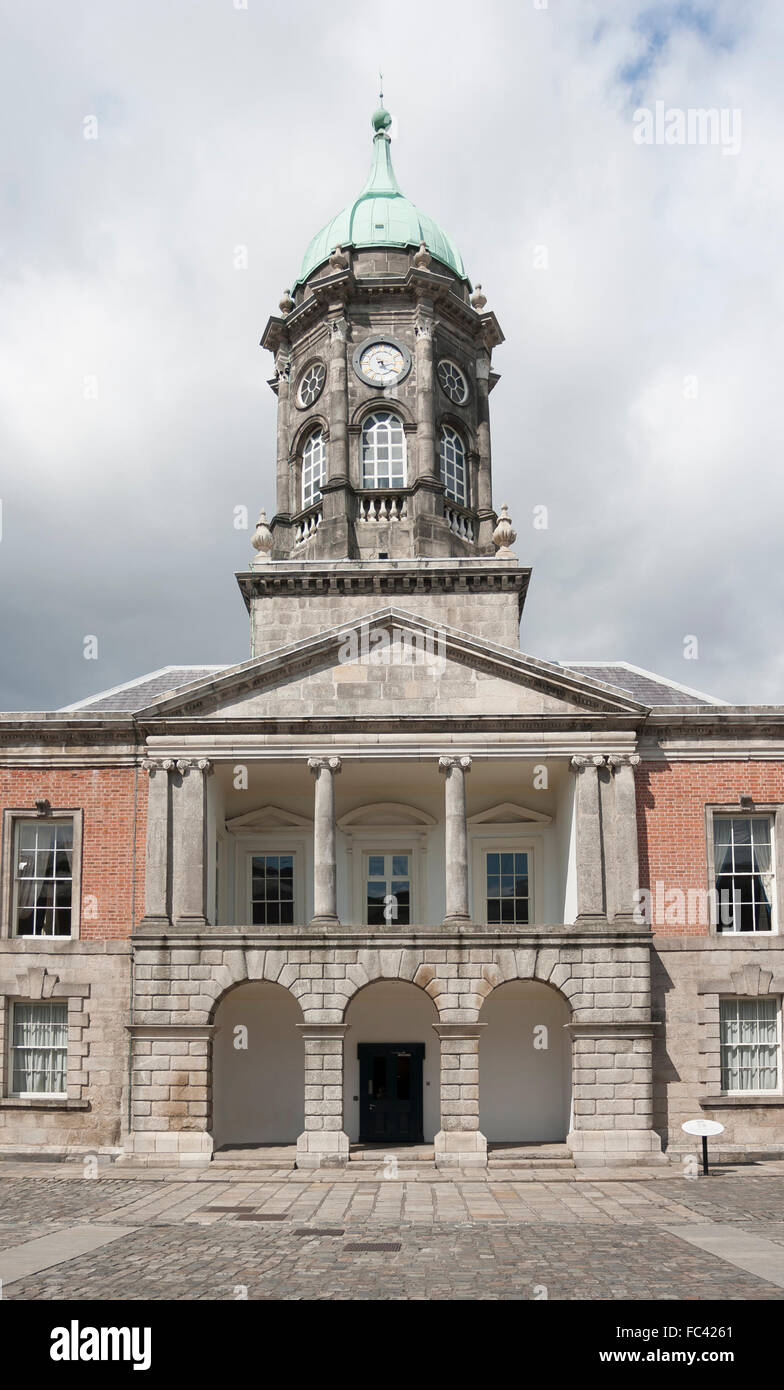 Dublin, Ireland - Aug 11, 2014: The Bedford Tower at the Dublin Castle in Dublin, Ireland on August 11, 2014. Stock Photo