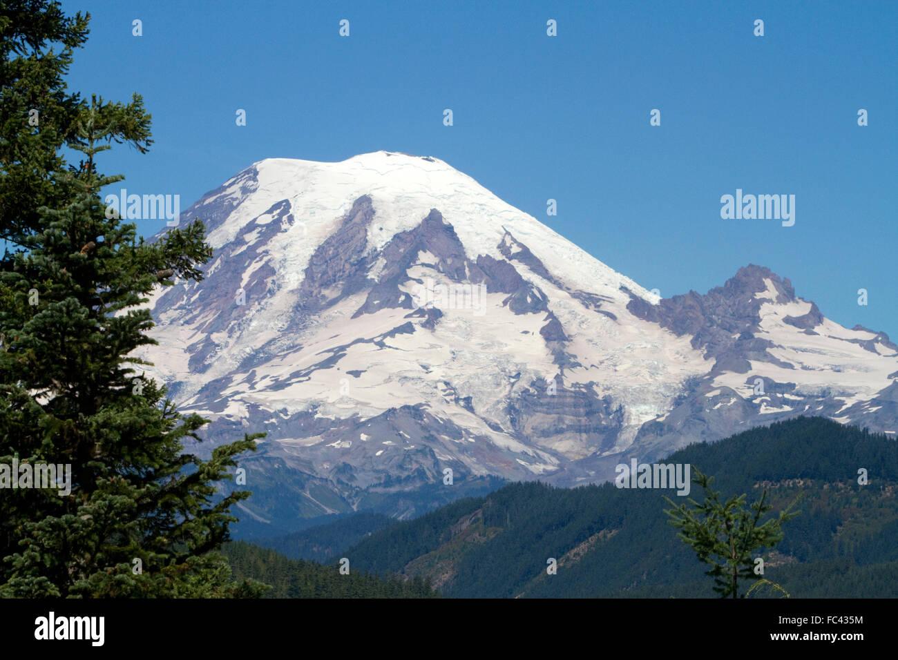 Mount Rainier in the state of Washington, USA. - Stock Image