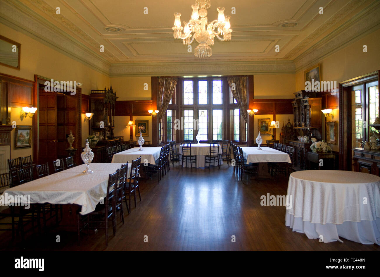 Interior of Thornewood Castle in Lakewood, Washington, USA. - Stock Image