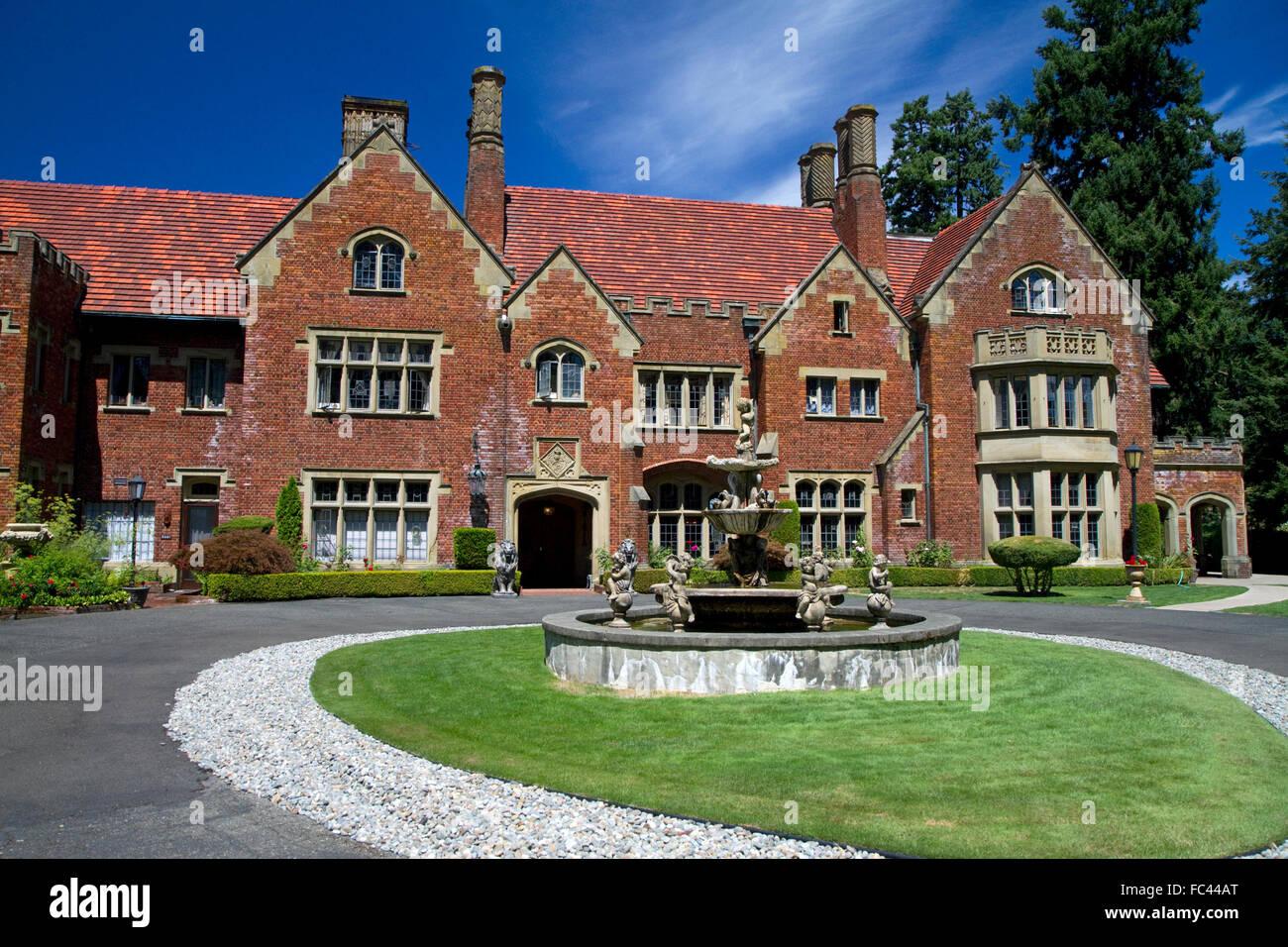 Thornewood Castle In Lakewood Washington Usa Stock Photo Alamy