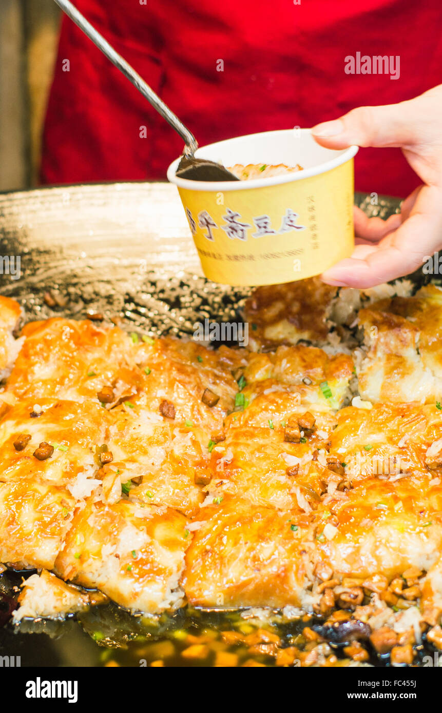 wuhan street snack doupi Stock Photo
