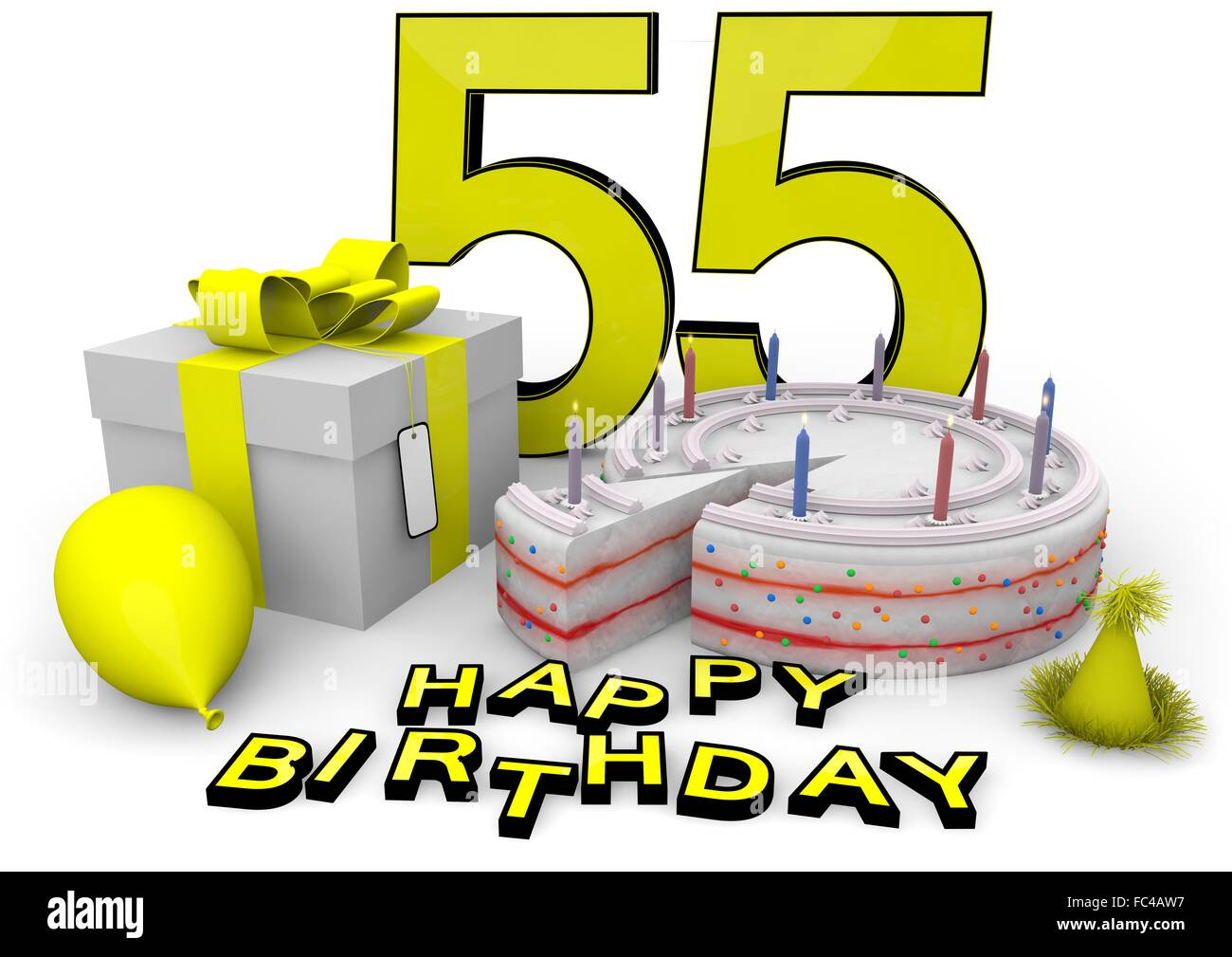 Happy Birthday Fifty Five 55 Stock Photos   Happy Birthday Fifty ... 9a6a53113a