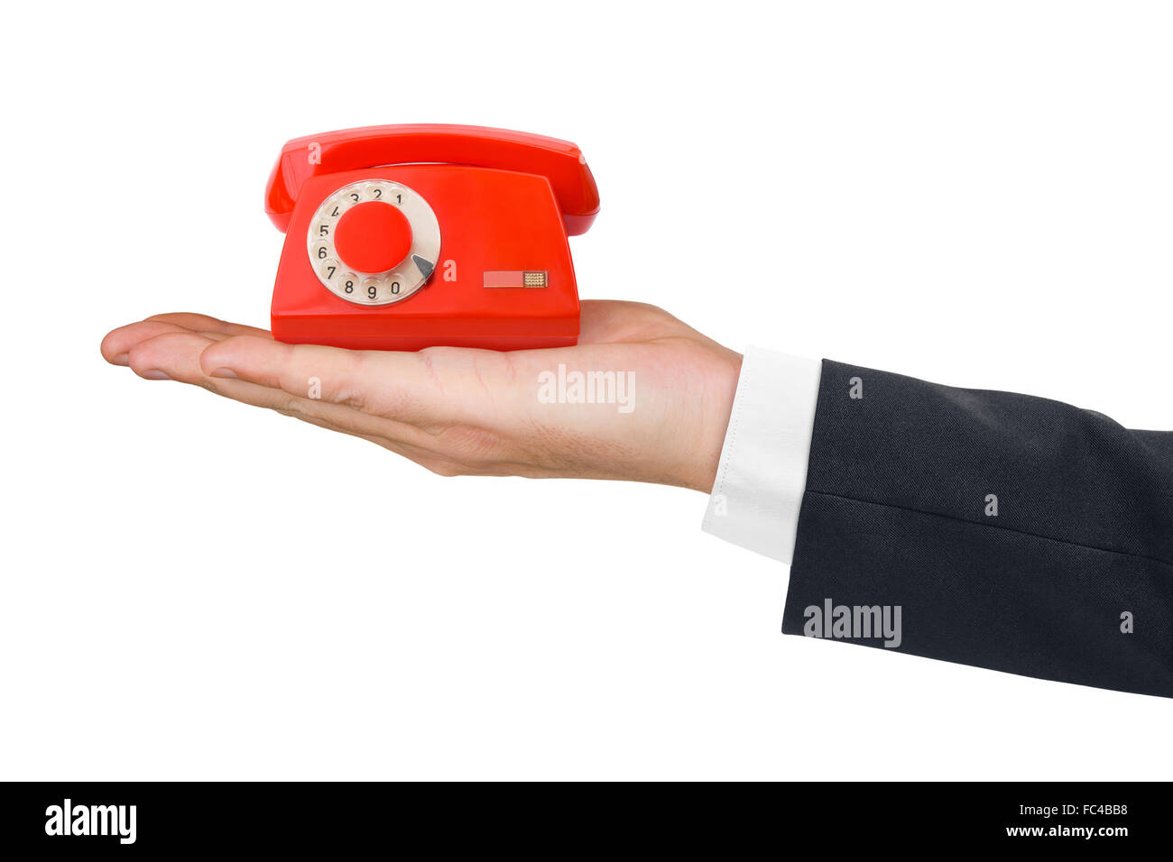 Telephone on hand - Stock Image