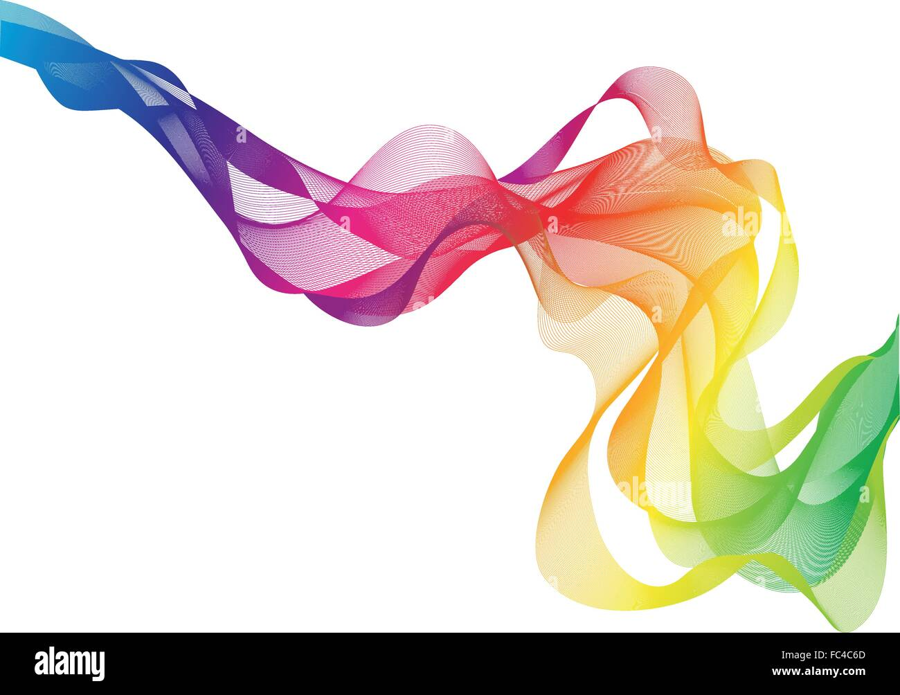abstract colorful smoke, vector background - Stock Image